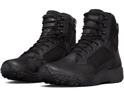 Under Armour 1303129 Men#x27;s UA Stellar 8quot; Tactical Side Zip Duty Leather Boots $79.99