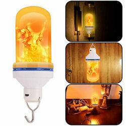 USB Rechargeable LED Flame-Effect Simulated Nature Fire Light Bulb Night Lamp US