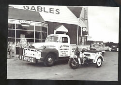 REAL PHOTO CAMP HILL PENNSYLVANIA PA. GAS STATION MOTORCYCLE POSTCARD COPY