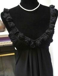B. Darlin Cocktail Women#x27;s Size 5 6 Semi Formal Black Dress Flowers $15.00