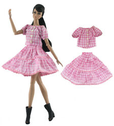 2 Pcs Set Fashion Doll ClothesDressOutfit For 11.5in.Doll C10 $2.99