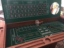 Solid Oak craps  Roulette Table MAN CAVESHE-SHED Must Have poker Is Everywhere