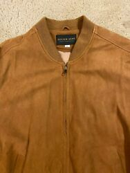 Golden Bear USA Bomber Style Brown Leather Jacket Men's Size Large