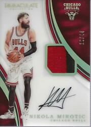 2016-17 Immaculate Collection Jersey Number #53 Nikola Mirotic Auto Patch 44