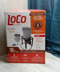 LOCO COOKERS 30 QUART TURKEY FRYER KIT CAN COOK 18 LB TURKEY SMART TEMP CONTROL