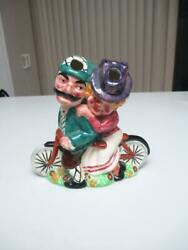VINTAGE STAFFORDSHIRE SHORTER & SON DAISY BELL BICYCLE SPILL VASE