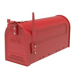 Durable Iron Post Mount Mailbox Outdoor Letter Storage Rural Designed Mailbox $21.59