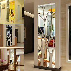 3D Mirror Tree Art Removable Wall Sticker Acrylic Mural Decal Home Room Decor $8.98