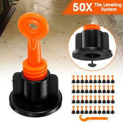 50 Round Ceramic Floor Wall Construction Tools Reusable Tile Leveling System Kit