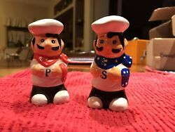 Vintage Salt amp; Pepper Shakers Italian Chefs $10.00