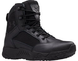 Under Armour 1276374 Women#x27;s UA Stellar 8quot; Tactical Duty DWR Leather Boot Black $74.99