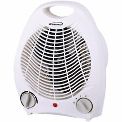 Brentwood Portable Electric Space Heater and Fan 1500-Watt White $48.70