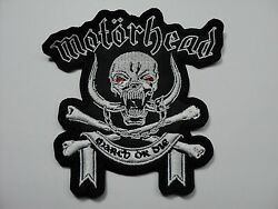 MOTORHEAD MARCH OR DIE SHAPED   EMBROIDERED PATCH