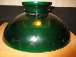 9 7 8quot; GREEN CASED GLASS SHADE $34.95