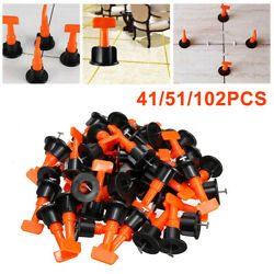 102x Flat Ceramic Floor Wall Construction Tool Reusable Tile Leveling System Kit