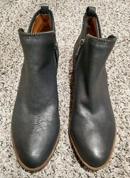 Lucky Brand Bartalino Pewter Metallic Leather Ankle Boots Size 1040 NWOB 💟