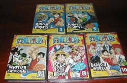 One Piece Collection Vol 1 5 6 8 10 New Anime Dvd Set English Version