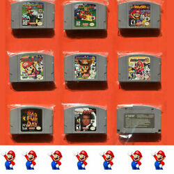 Video Games Card Cartridges For Nintendo 64 N64 Super Smash Bros. Pro Console US