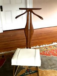 Mid Century Modern Setwell Co. Danish Mens Valet Butler Chair Stand