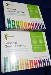 NEW 2 Sealed  23andMe DNA Test Health + Ancestry Personal Genetic Service Kit