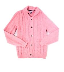 Club Room Mens Sweater Pink Size 2XL Cardigan Shawl Collar Cable Knit $65 120