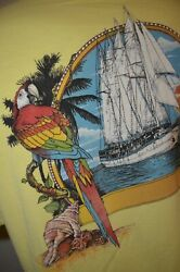 Fabulous Florida Keys Parrot Sailboat Beach Vacation XL T-Shirt USA VTG 80s 90s