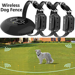 Wireless Electric Dog Fence Pet Containment System Shock Collars For 1 2 3 Dogs $56.99