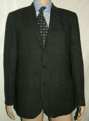 J. Crew Mens Charcoal Gray Tweed 100% Wool Ludlow Suit Jacket Blazer Sz 42