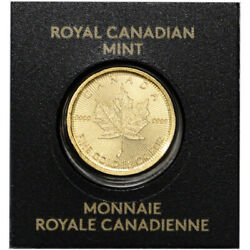1 gram Canada Gold Maple Leaf 50C from Gold Maplegram25™ 9999 Fine Random Date $75.36