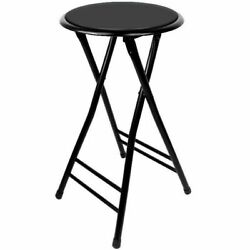 24 Inch Cushioned Folding Stool - Holds up to 250 Pounds - Easy to Store $27.99