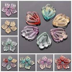 10pcs 15x12mm Leaf Crystal Glass Loose Pendants Beads For Jewellery Crafts DIY $1.99
