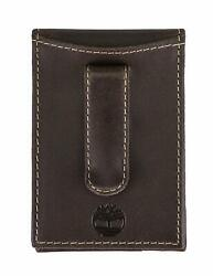 Timberland Thin Mens Money Clip Wallet Genuine Delta Leather Efficient Rugged $20.52