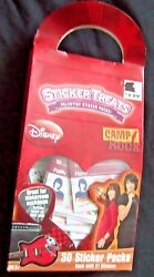 Camp Rock 30 kids Classroom pack Valentine sticker bundle cards box flattened $5.88