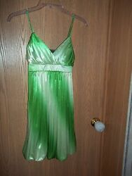 Ruby Rox Party Dress Size Small Shades of Lime Green Party $12.99