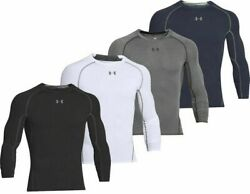 Under Armour 1257471 Men#x27;s HeatGear Armour Compression Long Sleeve Shirt Tee $30.99