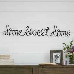 Home Sweet Home Cursive Metal Cutout Sign Rustic Decor Wall Hanging 32 Inch $17.99