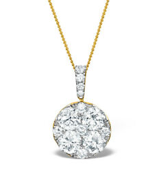 2.15 Carat Diamond Pendant 18k Yellow Gold Certificate 16 - 20