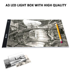 A3 LED Adjustable Light Box Copy Drawing Artist Tracing Board Pad Dimmable