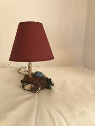 Golf Lamp Small Seven Inches Tall. With Burgundy Shade. $9.80