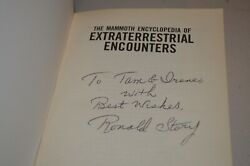 Ronald Story Signed Mammoth Encyclopedia Extraterrestrial Encounters Alien UFO $100.00