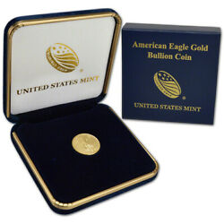 2020 American Gold Eagle 1 10 oz $5 BU coin in U.S. Mint Gift Box $223.96