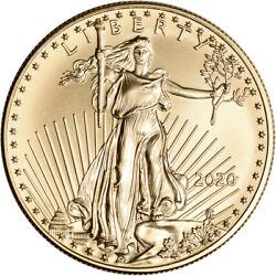 2020 American Gold Eagle 1 oz $50 - BU $1,922.21