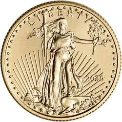 2020 American Gold Eagle 1 4 oz $10 BU $544.88