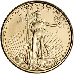2020 American Gold Eagle 1 10 oz $5 BU $220.86