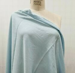 100% Cotton Crepe Fabric Light Blue By the Yard light weigh Sheer See Thru $6.50