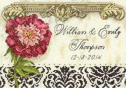 Cross Stitch Mini Kit Gold Collection Floral Elegant Wedding Record #70 65138 $11.99