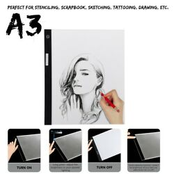 A3 LED Drawing Painting Board Copy Tracing Tattoo Light Box Pad Table Stencil ;