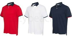 TOMMY HILFIGER  Sanders Tipped Cotton Pique Sport Shirt NEW Men's Polo $39.95