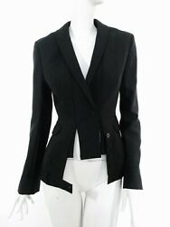 STUNNING WOMEN ALL SAINTS DIOMA DECONSTRUCTED TAILCOAT BLAZER JACKET BLACK UK 10 $193.91