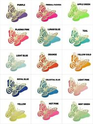 Pack of 3 one size Die Cut 3D BUTTERFLY Card Stock Paper Choose Color  $3.95
